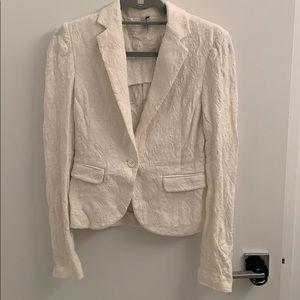 Very cute white knit blazer